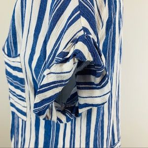 Anthropologie Tops - Mello Day Anthropologie Blue White Striped Blouse